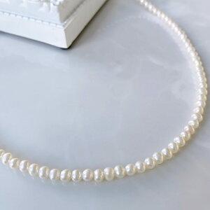 淡水真珠ネックレスベビーパールネックレスホワイト系/グレー系4.0-5.0mmA-BB[パールネックレス真珠ネックレス][真珠パール][同梱にオススメ][母の日][HS][BB]CO6月誕生石