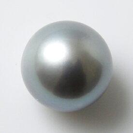 淡水真珠 パールルース(シングル) グレー系 9.0-9.5mm 大珠 A〜BC ラウンド (片穴があいています)[n3](本真珠 パール)(セミオーダー 加工用)