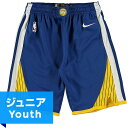 NBA スウィングマンショーツ(ジュニア ブルー)ウォリアーズ Nike Golden State Warriors Youth Royal/Gold Swingman Shorts - Icon E…