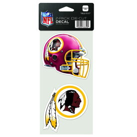 NFL ダイカットステッカー2種セット レッドスキンズ(A) Washington Redskins Set of 2 Die Cut Decals (A)