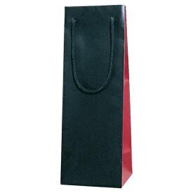 【送料お得】_化粧箱入りワインボトルも入る 手提げ袋 ブライトバッグ ワインレッド 10枚入り【RCP】【ワイングラス/カトラリー】【バー/カクテル】