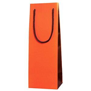 【送料お得】_化粧箱入りワインボトルも入る 手提げ袋 ブライトバッグ オレンジブラウン 10枚入り【RCP】【ワイングラス/カトラリー】【バー/カクテル】