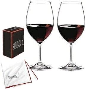 【送料無料】_2脚セット リーデル ワイングラス ヴィノム カベルネメルロ/ボルドー ワイングラス 6416/0 リーデル純正グラス拭きセット【RCP】【ワイングラス/カトラリー】【バー/カクテル】