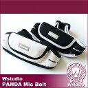 Wstudio☆ダブルスタジオ☆【全2色】PANDA Mic Belt☆