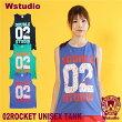 【ネコポス対応】Wstudioダブルスタジオ【全3色】02ROCKETUNISEXTANKフィットネスウェア