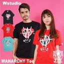【ネコポス対応】Wstudio ダブルスタジオ【全3色×2サイズ】WANARCHY Tee フィットネスウェア