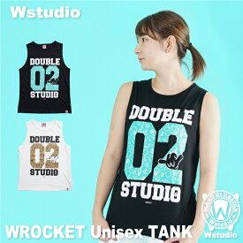 【ネコポス対応】Wstudio ダブルスタジオ【全2色】WROCKET Unisex TANK フィットネスウェア