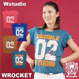 【ネコポス対応】Wstudio ダブルスタジオ【全4色】WROCKET Girls Tee フィットネスウェア
