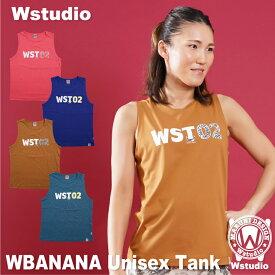【ネコポス対応】Wstudio ダブルスタジオ【全4色】WBANANA Unisex TANK フィットネスウェア