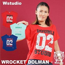 【ネコポス対応】Wstudio ダブルスタジオ【全3色】WROCKET DOLMAN フィットネスウェア