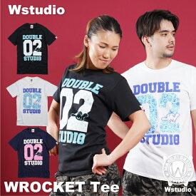 【ネコポス対応】Wstudio ダブルスタジオ【全3色×2サイズ】WROCKET Tee フィットネスウェア