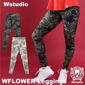 【送料無料】Wstudio ダブルスタジオ【全2色】WFLOWER Leggings フィットネスウェア