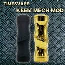 Timesvape Keen Hybrid Mechanical Mech Modキーン ケーン ハイブリッド ブラス 金 ゴールド ブラス 黒 ブラックメカニカル チューブ …
