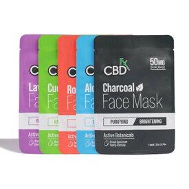 CBDfx Face Mask シービーディーエフエックス フェイスマスク 1枚 フェイスパック シートマスク パック フェイシャル シートパック CBD 250MG スキンケア 美容 保湿 パック 潤い 肌 しわ たるみ 潤 コスメ ヘンプ HEMP カンナビジオール カンナビノイド お試し 旅行 トラベル