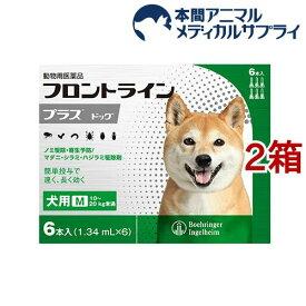 【動物用医薬品】フロントラインプラス 犬用 M 10〜20kg未満(6本入*2箱セット)【fr_cp】【フロントラインプラス】