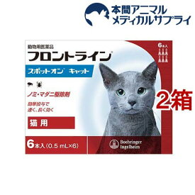 【動物用医薬品】フロントラインスポットオン 猫用(6本入*2箱セット)【d_fr】【フロントライン】