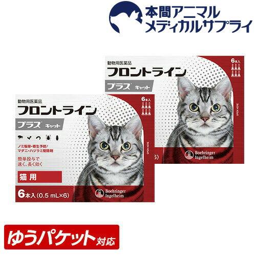 【メール便送料無料】猫用 フロントラインプラス 2箱 12本入 12ピペット【動物用医薬品】【1903_flp】
