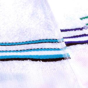 フェイスタオル ボーダー 1枚 平地付 全4色 日本製 泉州製 綿100% コットン 送料無料 赤 青 紺 緑 国産 薄手 ハンドタオル 業務用 挨拶 記念品 お手拭き 病院 介護 景品 引越し ウエス 保育園