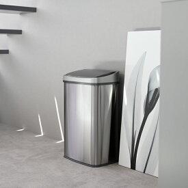 ゴミ箱 おしゃれ センサー自動開閉 大容量 50リットル 2分別使用可能 50L 45リットルゴミ袋対応 ふた付き ステンレス 45L ごみ箱 ダストボックス レビュー特典 WY