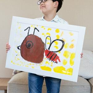 画用紙 フレーム 紙の額縁 四つ切り画用紙 絵画 子供の絵 プレゼント WY