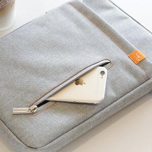 iPadAir対応!iPad全世代、ArrowsTab、GALAXYTab10.1、XperiaTabletなど、各社タブレットPC用ケースインナーバッグ小物収納ポケット取手付き超軽量150gふわふわクッション内蔵でとても優しい手触り衝撃もしっかり吸収おしゃれで爽やかな雰囲気のケース