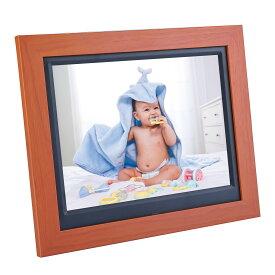 木目のデジタルフォトフレーム 8.7インチIPS広視野角 1280*800高解像度 結婚 出産 記念 お祝い プレゼント