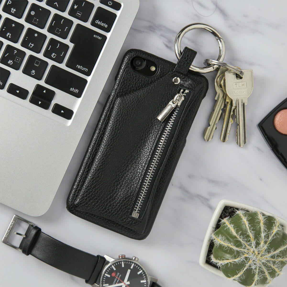 iPhone6/6s/7/8/7Plus/8Plus コインケース付きレザーケース | アイフォン 人気 ブランド 革 財布 小銭入れ ミニマリスト シンプル メンズ 大人 かっこいい かわいい おしゃれ スマホ スマフォ カバー ケース ポイント消化