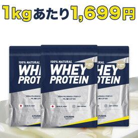 エクスプロージョン プロテイン 100%ホエイプロテイン 杏仁豆腐味味 3個セット 3kg×3個 合計9kg 日本製 男性 女性 X-PLOSION