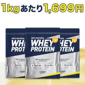 エクスプロージョン プロテイン 100%ホエイプロテイン フルーツオレ味 3個セット 3kg×3個 合計9kg 日本製 男性 女性 X-PLOSION