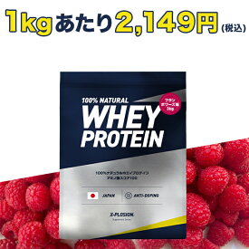 プロテイン エクスプロージョン 100%ホエイプロテイン フランボワーズ味 3kg 日本製 男性 女性 X-PLOSION