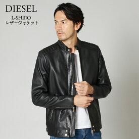 2019-2020秋冬新作 ディーゼル DIESEL メンズ レザージャケット L-SHIRO 00SU8S 0WAGL ブラック(900) 【mwp】【dww】