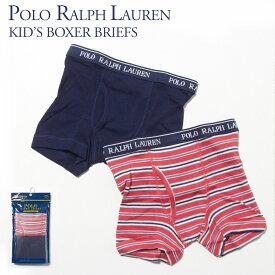 ポロ ラルフローレン POLO RALPH LAUREN キッズ 下着 パンツ RKBB RN15763 AP3435 2Pセット 2BOXER BRIEFS S.RED/C.NAVY (LHD)