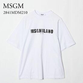 エムエスジーエム レディース Tシャツ 2841MDM210 ホワイト MSGM 【cll】