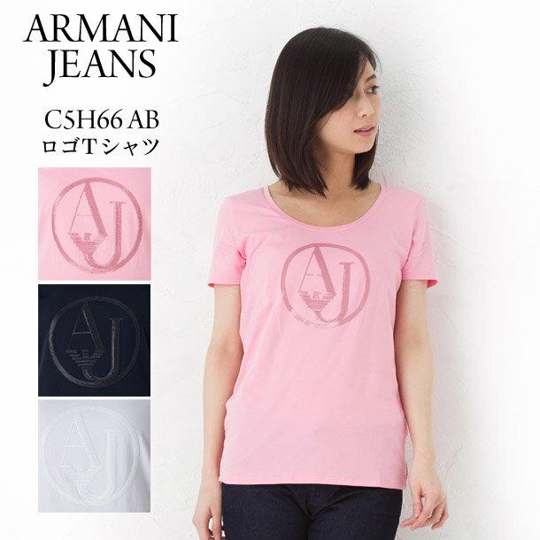 アルマーニ アルマーニジーンズ レディース Tシャツ ARMANI JEANS C5H66 AB ロゴTシャツ 選べるカラー 【アルマーニ ジーンズ:Armani jeans】
