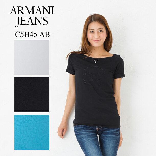 アルマーニ アルマーニジーンズ レディース Tシャツ ARMANI JEANS C5H45 AB ロゴ 選べるカラー 【アルマーニ ジーンズ:Armani jeans】