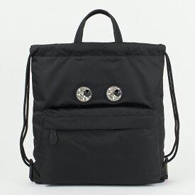 アニヤハインドマーチ ANYA HINDMARCH リュックサック バックパック 【Mini Crystal Eyes Drawstring Backpack】 139182 ブラック(BLACK) 【bgl】【bkb】