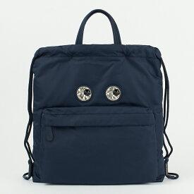 アニヤハインドマーチ ANYA HINDMARCH リュックサック バックパック 【Mini Crystal Eyes Drawstring Backpack】 139243 ネイビー系(MARINE) 【bgl】