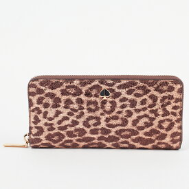 ケイトスペード KATE SPADE 長財布 【METALLIC LEOPARD:メタリックレオパード】 slim continental wallet PWRU7479 ブラウン系(985/ROSE GOLD MULTI) 【skl】【hkc】【scd】【glw】