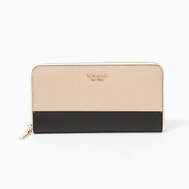 ケイトスペード 長財布 【SPENCER:スペンサー】 zip around continent PWRU7848 195/WARM BEIGE/BLACK KATE SPADE 【skl】