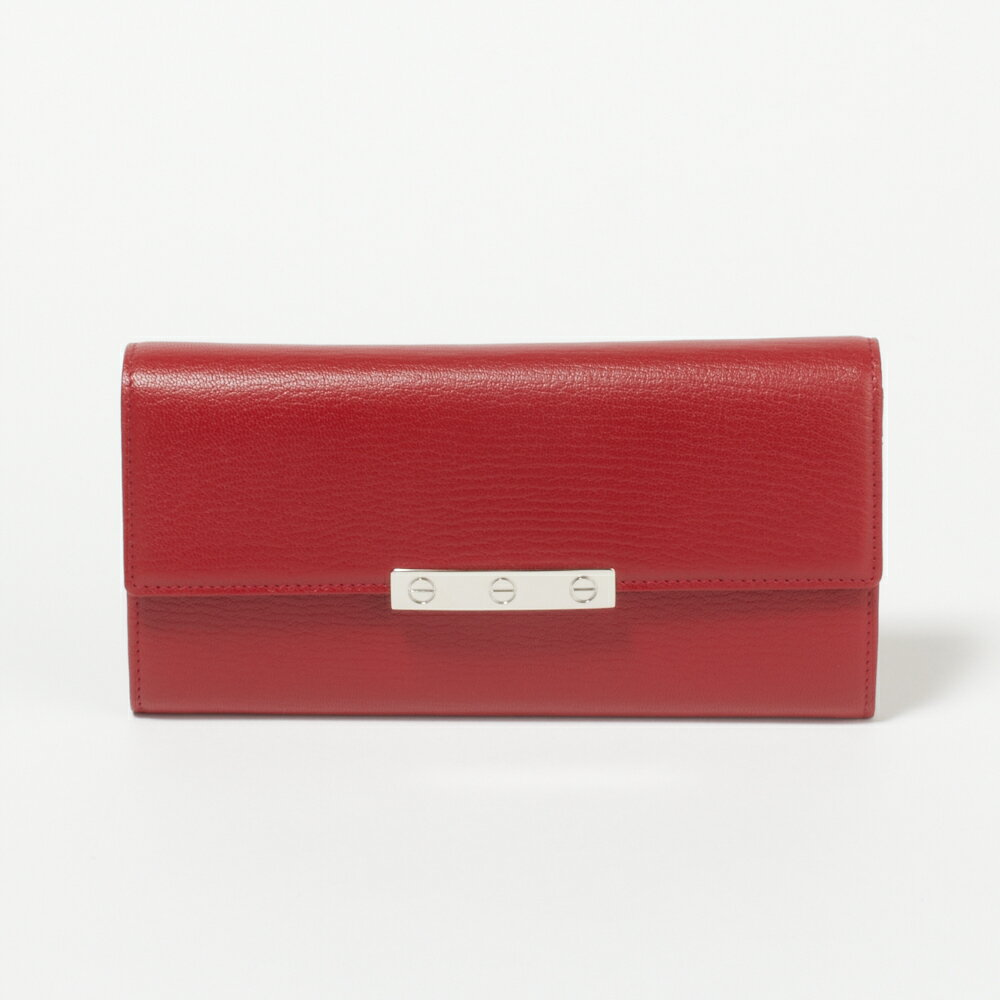 カルティエ 財布 長財布 CARTIER L3001377 GUSSET RED LOVE