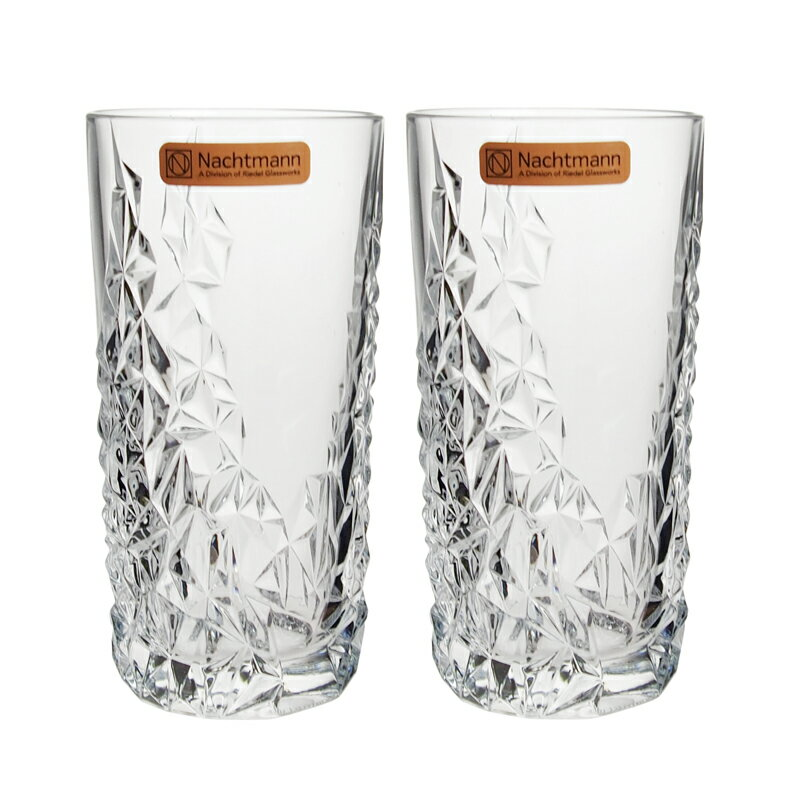 ナハトマン NACHTMANN タンブラー ロングドリンク グラス 91903 420ml 2個セット スカルプチャー クリア