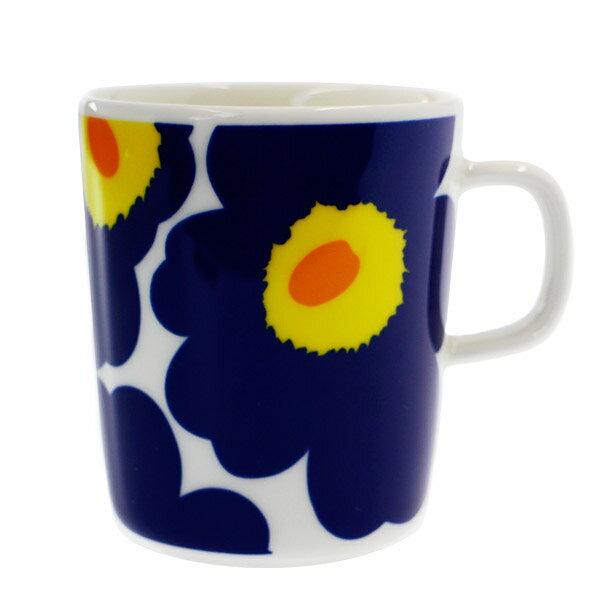 マリメッコ マグカップ MARIMEKKO 063431-002 UNIKKO ウニッコ ホワイト/ネイビー 250ml