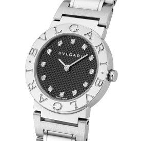 ブルガリ BVLGARI 腕時計 レディースウォッチ ブラック×シルバー 26mm BB26BSS/12 ブルガリブルガリ 12ポイントダイヤ 【wcl】 【wcl】