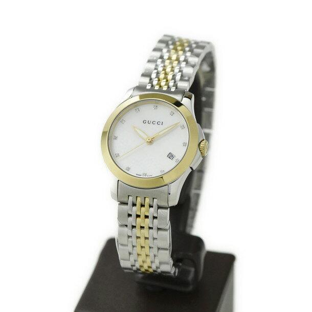 グッチ GUCCI 腕時計 レディース 時計 【Gタイムレス】 YA126513 ホワイトシェル