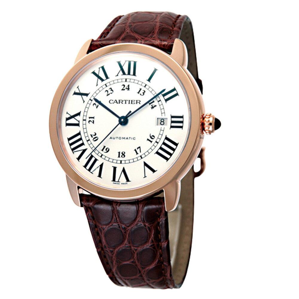 【ご予約会対象品】 カルティエ CARTIER 腕時計 メンズウォッチ W6701009 XL ロンドソロ ホワイト×ピンクゴールド 42mm 【お取り寄せ】