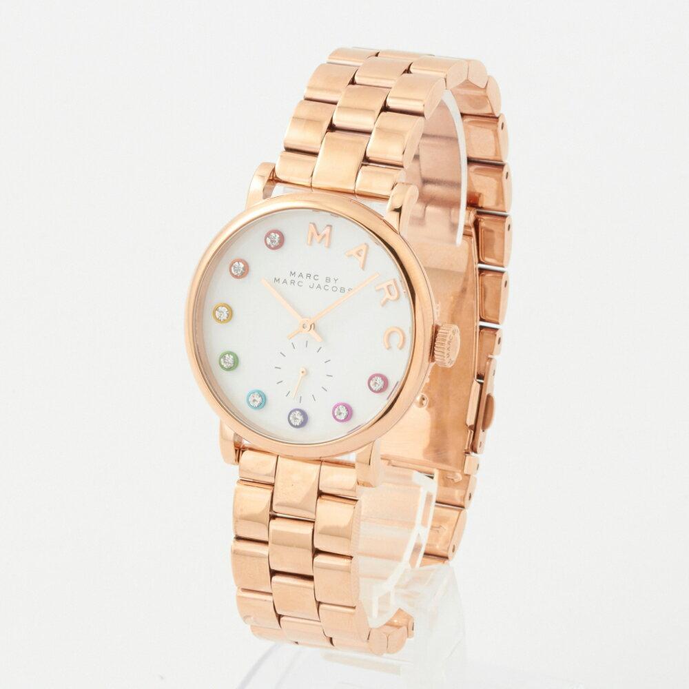 マークバイマークジェイコブス 腕時計 レディース MARC BY MARCJACOBS MBM3411 ピンクゴールド×ホワイト スリム:The Slim