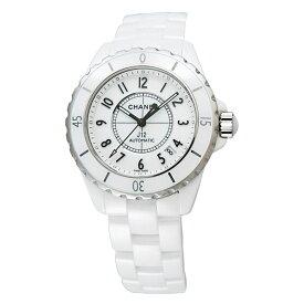 【ポイント5倍】【ご予約会対象品】 シャネル CHANEL 腕時計 メンズウォッチ J12 セラミック H0970 ホワイト文字盤 38mm 【お取り寄せ】