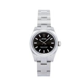 ROLEX ロレックス 腕時計 レディースウォッチ オイスターパーペチュアル ブラック文字盤 176200 【お取り寄せ】【wcl】