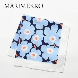 マリメッコ スカーフ TAISA MINI UNIKKO タイサミニウニッコ 48373 512 BLUE/WHITE/PEACH MARIMEKKO 【ゆうパケ可】 【zkk】