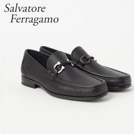 フェラガモ FERRAGAMO 靴 メンズ ビジネスシューズ GRANDIOSO 0642848 MUFLONE SOFT NERO 【zkk】